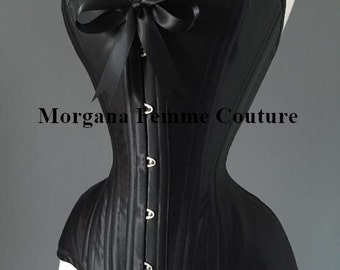 c9770a68f7 Custom made heavy corsetry coutil satin sweetheart overbust corset
