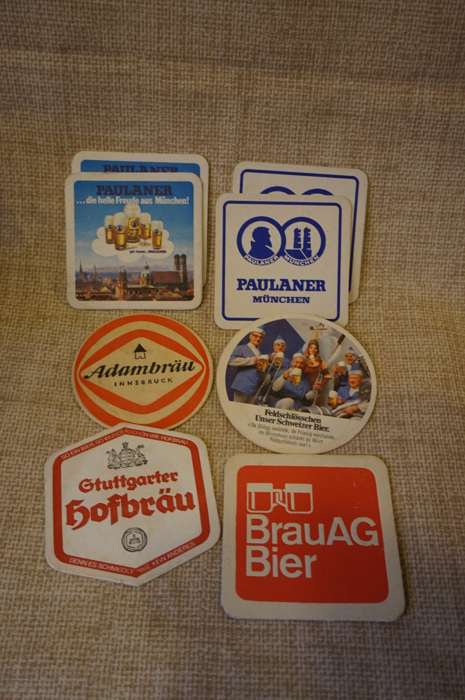 Vintage Beer Coasters German Beer Coaster Pub Coasters Set of 8 Bar Coasters German Beer Coasters