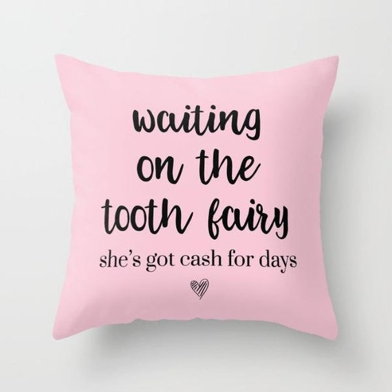 Tooth Fairy Kids Pillow w/ Insert | Throw Pillow | Pillow Case | Pillow Cover | Kids Room |  Home Decor | Statement Pillow