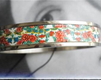 Personalized Bangle Bracelet Atrio Custom Portugal Viana Stainless Steel Azulejo Portuguese Folk Russian Pashmina Posad Downey Orenburg