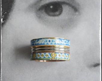 Ring Portugal Tile Atrio Border Antique Azulejo STAINLESS STEEL  Two Toned University of Evora Size 8
