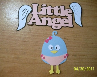 Baby Girl birdie with Little Angel title