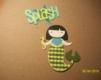 splash mermaid paper doll with title