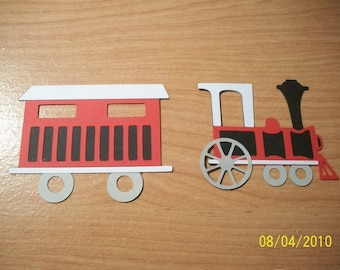 Train engine and train car diecuts