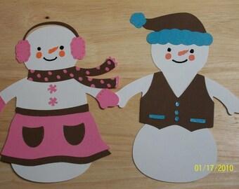 snowmen diecut pair