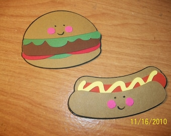 Hamburger and Hotdog die cut