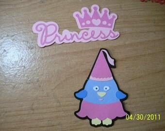 Princess birdie die cut with princess title