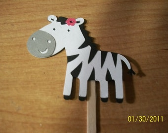 Zebra cupcake toppers- set of 12