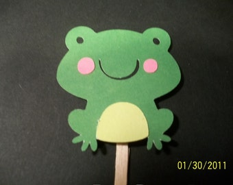 Frog cupcake toppers -set of 24