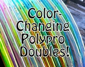 """Color Changing Polypro DOUBLES! Available in 3/4"""" OR iN 5/8"""" THiN! Free Inside Grip Option. Choose Colors in Notes to Seller."""