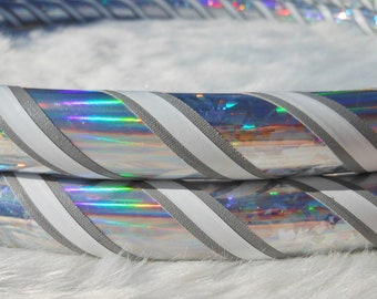 NEW Custom Hula Hoop -  'SILVER LINING' - From the 'Pinstripe Collection,' Exclusively from Hoop Mamas.