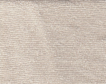 """Terry toweling, IN STOCK, 5 yards, 8.8 oz per sq yds, 60"""", organic cotton, natural, GOTS certified"""