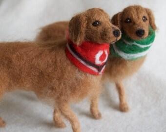 Needle Felted Golden Retriever Dog, Wool Pet Portrait