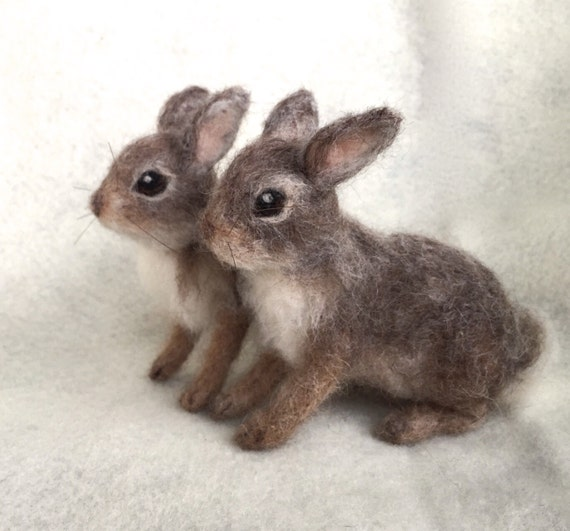 Image of: Kung Fu Naald Vilten Cottontail Bunny Rabbit Baby Poseable Bos Dier Etsy Naald Vilten Cottontail Bunny Rabbit Baby Poseable Bos Dier Etsy