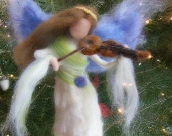 Angel Tree Topper Needle Felted Fairy , Waldorf, Custom