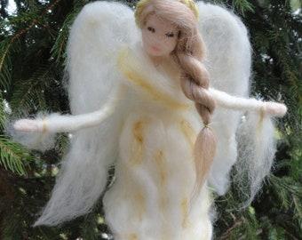 Angel Tree Topper Needle Felted , Custom
