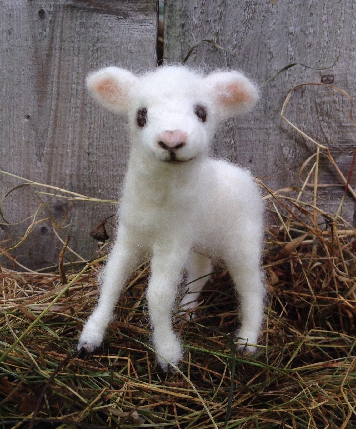 Needle Felted Lamb Baby Sheep Poseable | Etsy