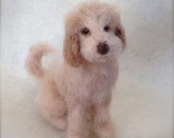 Needle Felted Dog Pet Portrait Labradoodle Goldendoodle
