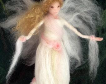 Angel Tree Topper Custom Needle Felt, Roses