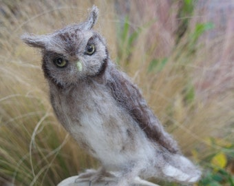 Needle Felted Screech Owl
