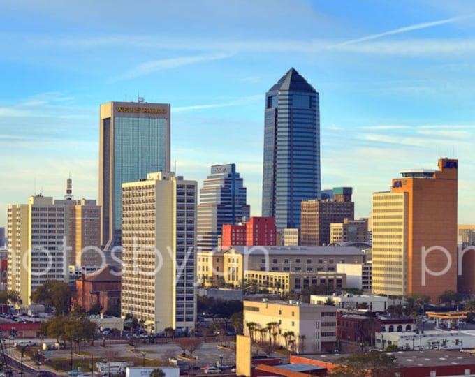 CANVAS Jacksonville Skyline Morning JAX Panoramic Photo Print Cityscape