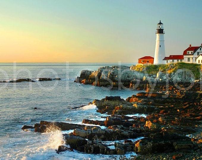 Portland Head Light no. 2 - AWARD WINNING photograph - signed by artist - Maine coast lighthouse