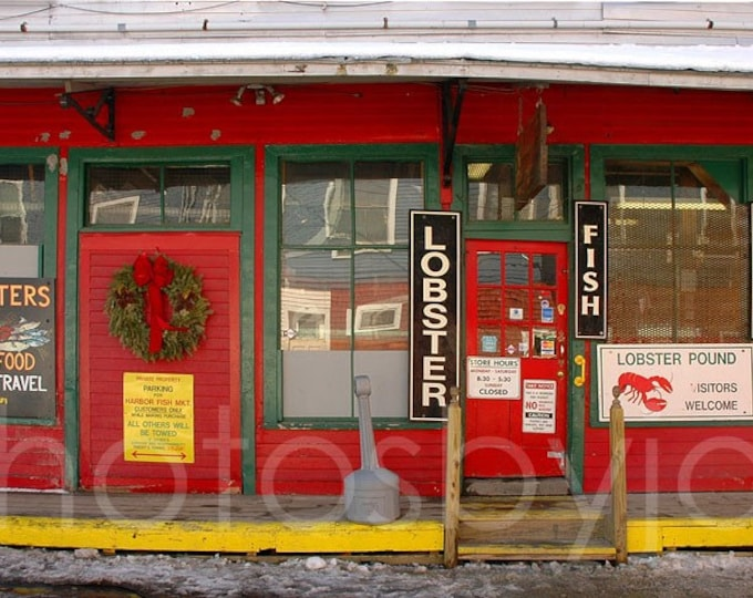 Old Port Eatery - signed original photograph - rustic seafood storefront
