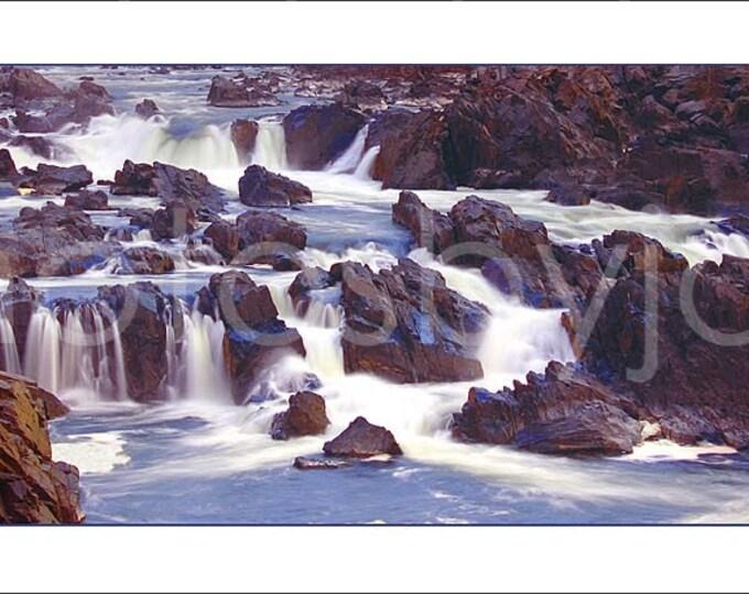 Great Falls - 12 x 36 Photographic Panorama Print - Virginia - Maryland waterfall