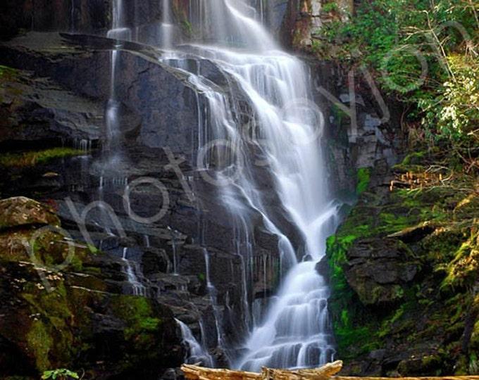 Eastatoe Falls - signed original photograph, Fine Art print matte finish, North Carolina waterfall