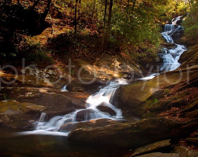 Roaring Fork Falls - 8x12 signed and numbered original photograph, cascading Appalachian waterfall