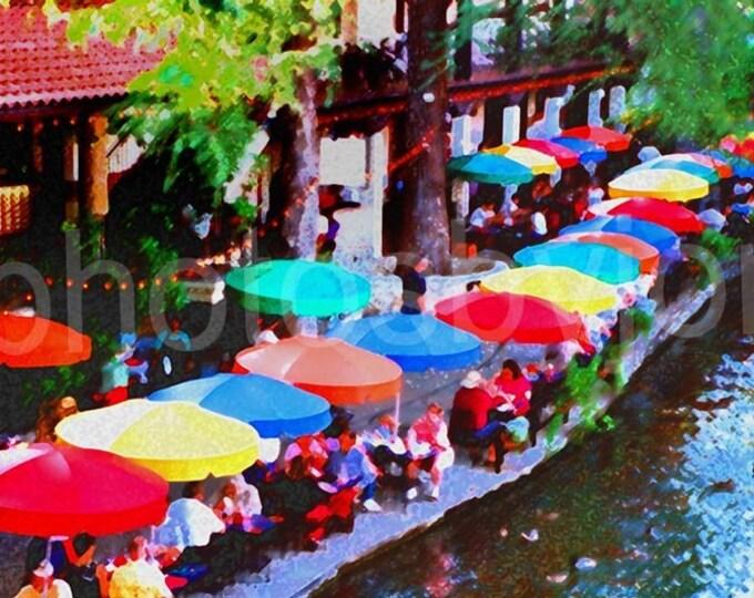 SPECIAL PRICE... los colores bello del rio - 8 x 12 signed original photograph San Antonio Riverwalk