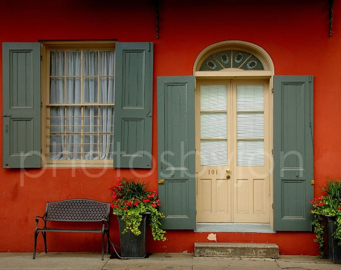 101 - 8 x 12 signed original photograph - New Orleans architecture