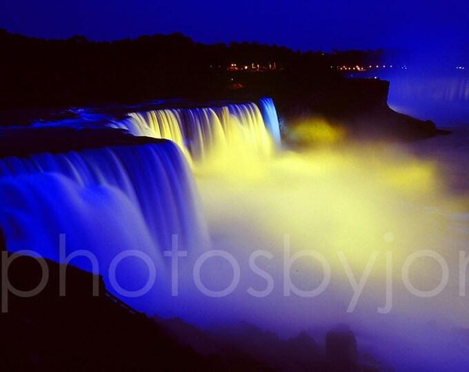 Night Falls - original photograph signed by artist, Niagara Falls waterfall