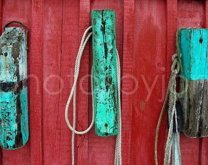 Buoys at Motif No. 1 - 8x12 signed original photograph - Rockport Massachusetts