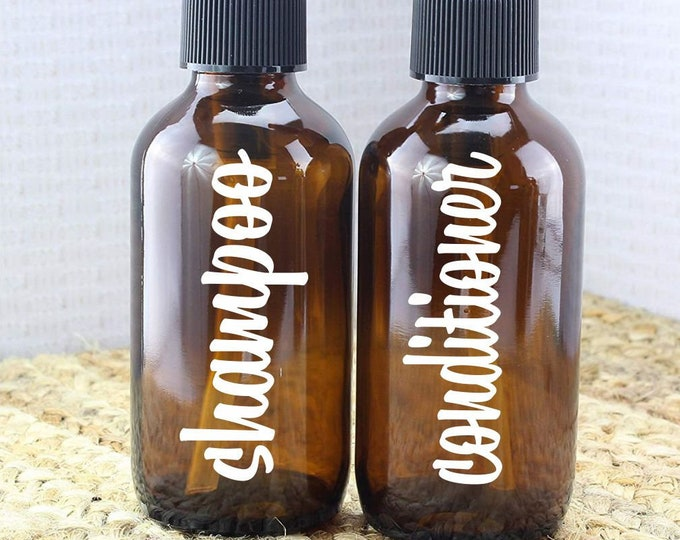 Shampoo and Conditioner label for bottle, vinyl decal