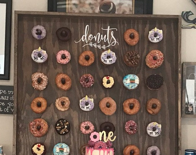 10% off SALE Donuts sign decal, doughnuts vinyl sticker, donut wall decal