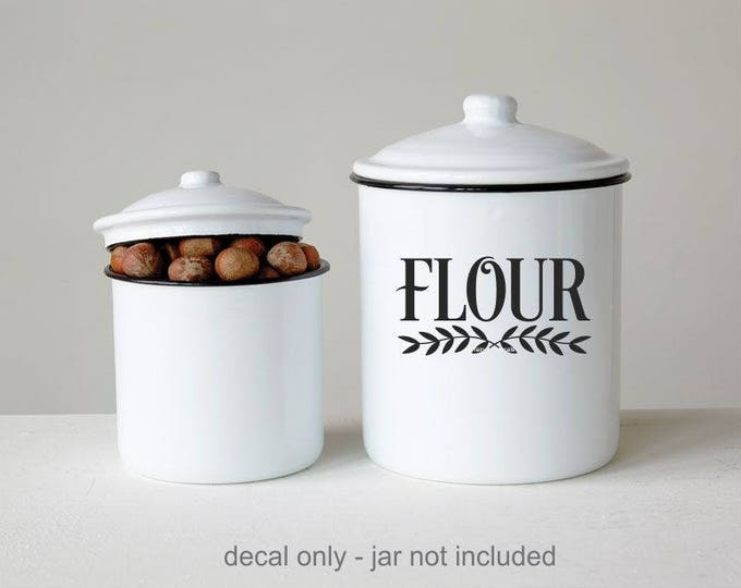 Flour Label for a Kitchen Canister, Vinyl Decal