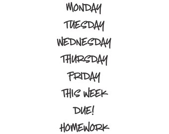 Classroom Organization, whiteboard decals, dry erase board days of the week, teacher daily schedule stickers, back to school, dorm decor