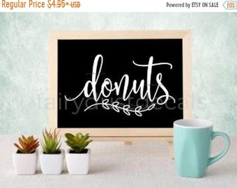 10% off sale Donuts decal, doughnuts vinyl sticker, decal for donuts sign, wedding chalkboard sign decal