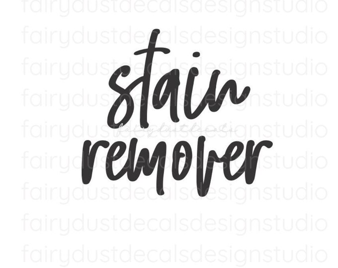 Stain Remover Laundry Decal, Laundry Room Canister Sticker, farmhouse style, stain remover vinyl container label