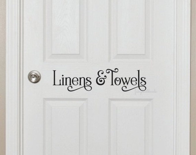 10% off sale Linens and Towels Bathroom Door Decal