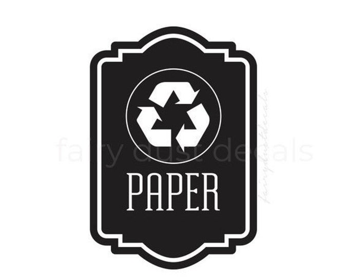 10% off sale Recycle Symbol Label, Recycle Bin Sticker, recycling symbol, vinyl decal, reduce reuse recycle, recycle paper vinyl decal