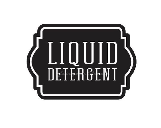 Laundry Liquid Detergent Canister Sticker, Liquid Soap Laundry Decal, Label for Laundry Room Conatiner, Vinyl Decal