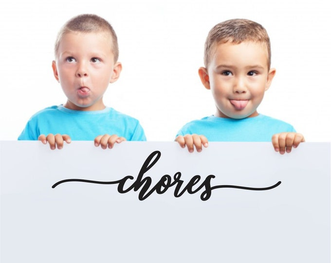 Chores Board Decal, whiteboard or chalkboard sign vinyl sticker, kid chores chart decal