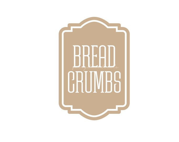 Bread Crumbs Canister Label, vinyl decal, kitchen pantry storage jar sticker, bread crumbs container sticker, dry goods cooking decals