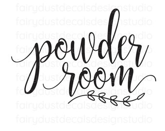 Powder Room Decal, bathroom door sign, ladies restroom vinyl decal sticker