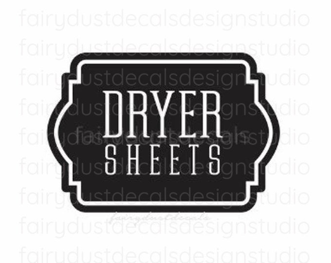 Laundry Dryer Sheets Decal, Farmhouse Laundry Room Decor, Canister Label, Organized Laundry, Dryer Sheets Sticker