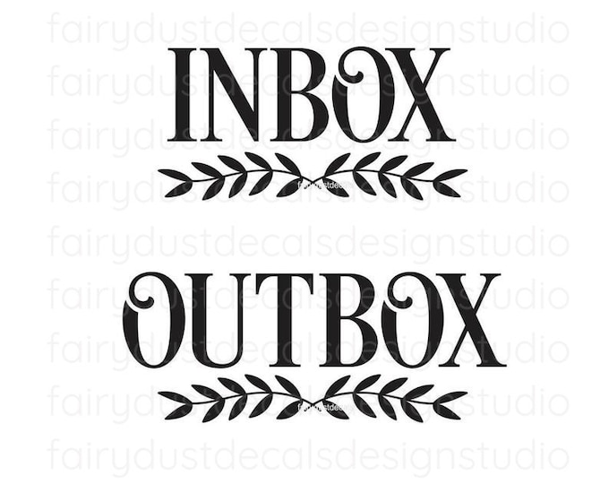 Inbox Outbox Decal Set, Home Organization, Command Center, small business office organization, Inbox Decal, Outbox Decal, declutter