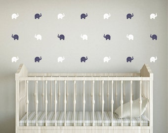 Elephant wall decal, mini size decal, elephant nursery, vinyl wall decal, zoo circus animal, safari animal decal, elephant sticker, wall art