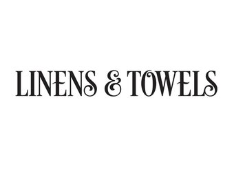 Linens and Towels Decal, bathroom closet door sign sticker